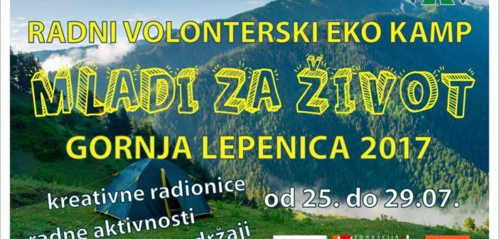 """Prijavi se: radno-volonterski eko kamp """"Mladi za život"""" u Srpcu"""