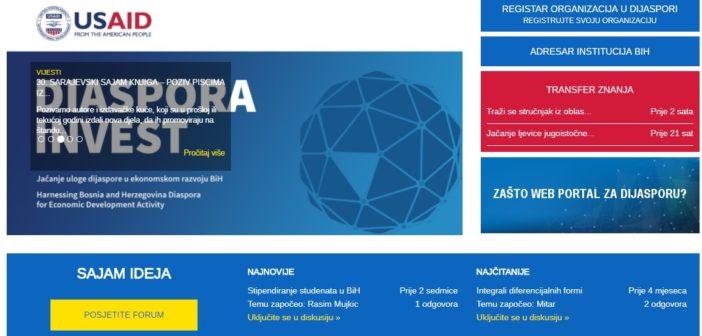 Prvi interaktivni portal za dijasporu iz Bosne i Hercegovine